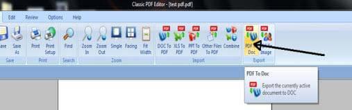 Wie konvertiere ich PDF-Dateien in das DOC-Format? Step 8