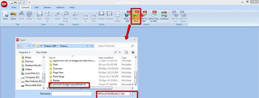 Wie man Excel-Dateien ins PDF-Format konvertiert | Classic PDF Editor step 5