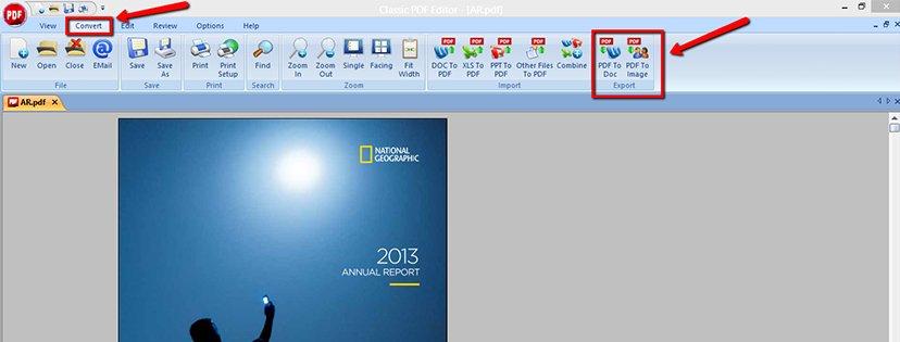 Wie man mit dem PDF Classic PDF Konvertierer eine PDF-Datei ins JPEG-Format konvertiert step 5
