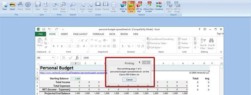 Wie man Excel-Dateien ins PDF-Format konvertiert | Classic PDF Editor step 6