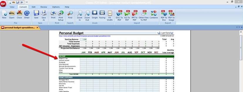 Wie man Excel-Dateien ins PDF-Format konvertiert | Classic PDF Editor step 7