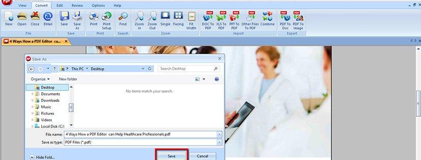 Wie man das Word-Format ins PDF-Format konvertiert | Classic PDF Editor Step 7