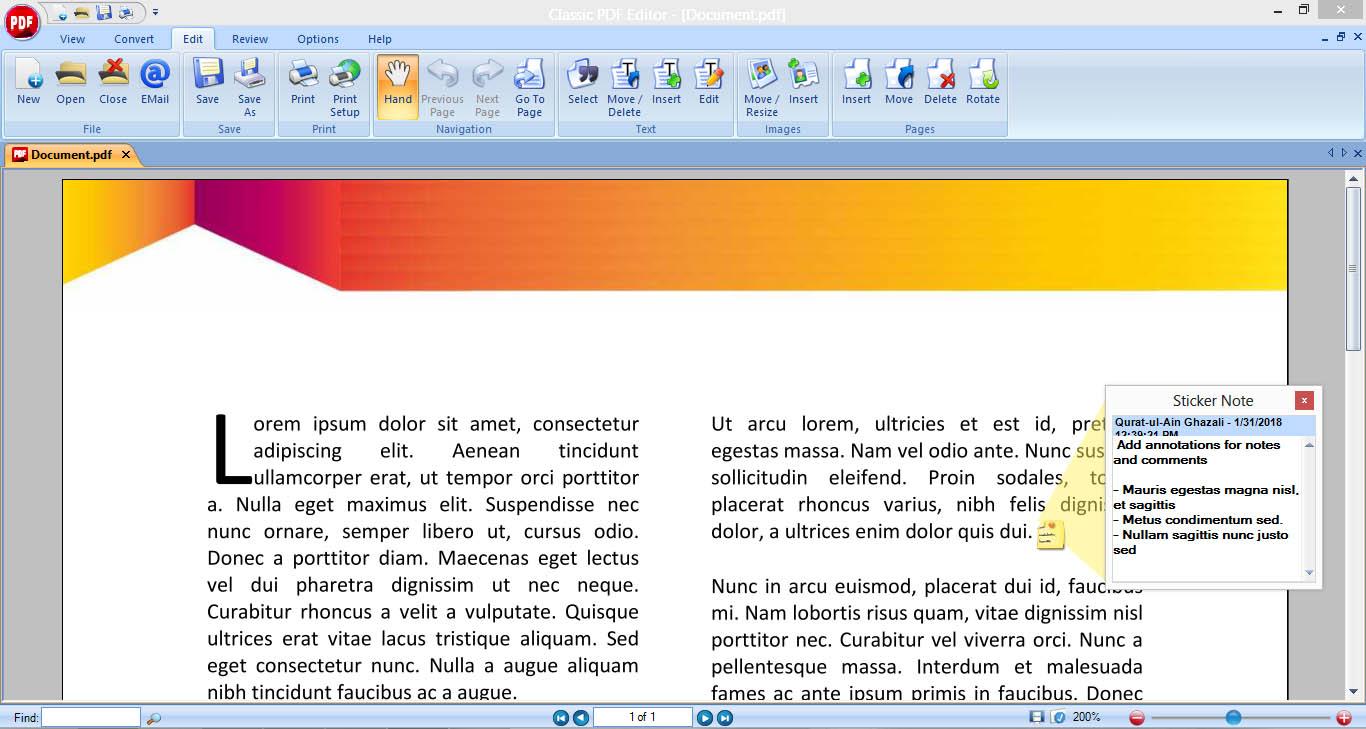 Der Classic PDF Editor verfügt über alles, was Sie benötigen, um Ihre digitalen Dokumente zu verwalten!
